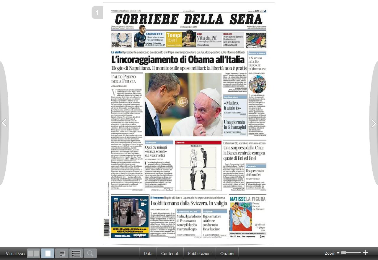 Corriere della sera e gazzetta dello sport edizioni for Corriere della sera arredamento