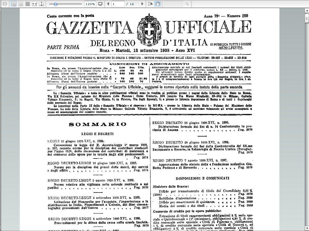 La storia attraverso i suoi documenti la gazzetta for Chi fa le leggi in italia