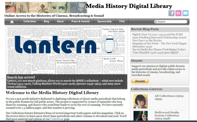 Media History Digital Library - Home
