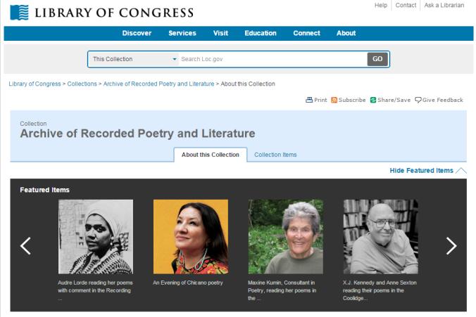 archive poetryLoC