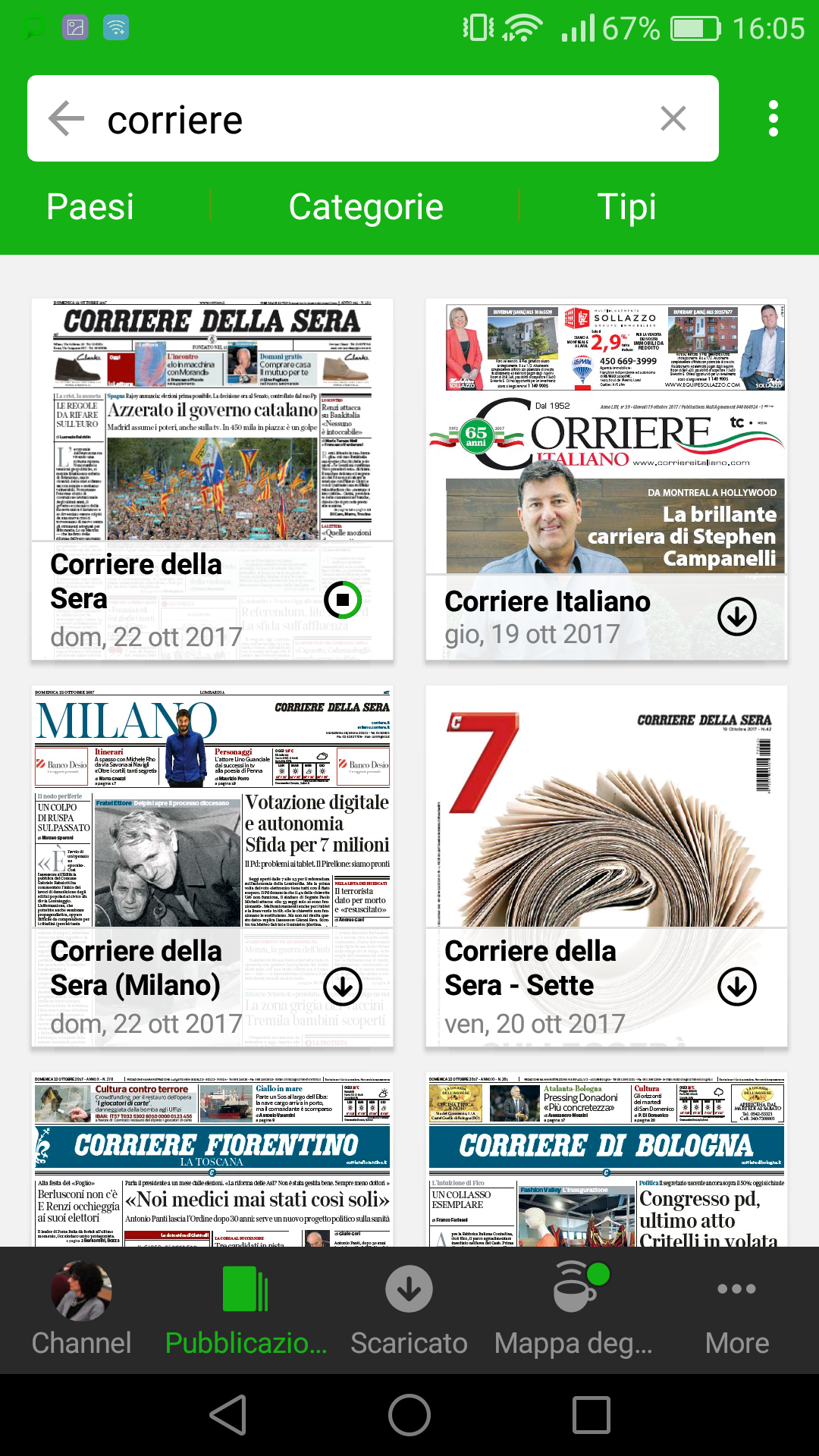 QUOTIDIANI GRATIS ANDROID SCARICARE